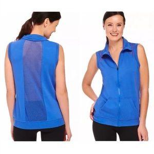Fabletics Temecula Cobalt Mesh Activewear Vest